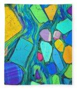 Art And Geology Fleece Blanket