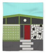 Mid Century Modern House 4 Fleece Blanket