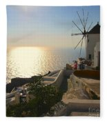 Midday On Santorini Fleece Blanket