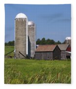 Middlebury Vermont Barn Fleece Blanket
