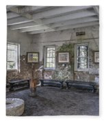 Middleton Place Rice Mill Interior Fleece Blanket