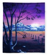 Midnight At The Border Fleece Blanket