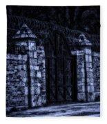 Midnight At The Prison Gates Fleece Blanket