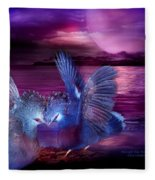 Midnight Blue Rendevous Fleece Blanket