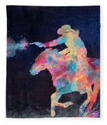 Midnight Cowgirls Ride Heaven Help The Fool Who Did Her Wrong Fleece Blanket
