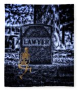 Midnight In The Graveyard With A Lawyer Fleece Blanket
