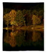 Midnight On The Lake Fleece Blanket