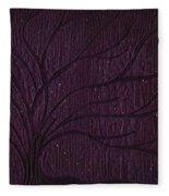 Midnight Tree Fleece Blanket