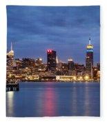 Midtown Manhattan Fleece Blanket