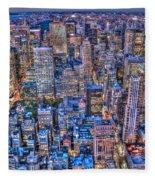 Midtown Manhattan Skyline Fleece Blanket