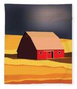 Midwest Barn Fleece Blanket