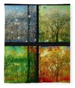 Midwest Seasons Collage Fleece Blanket