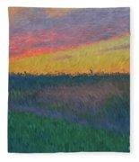 Midwest Sunset Fleece Blanket