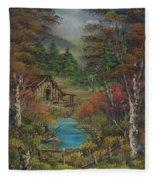 Midwestern Landscape Fleece Blanket