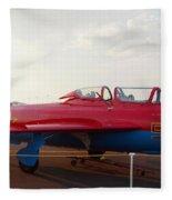 Mig Trainer Jet Fleece Blanket