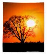 Mighty Oak Sunset Fleece Blanket