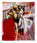 Mighty Woman Of God Fleece Blanket