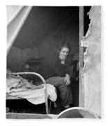Migrant Worker, 1936 Fleece Blanket