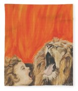 Mika And Lion Fleece Blanket