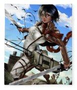 Mikasa Ackerman Fleece Blanket