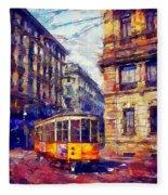 Milan Tram Fleece Blanket