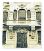 Milan Vintage Building Fleece Blanket