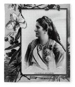 Milena Vukotic (1847-1923) Fleece Blanket