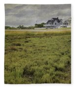 Milford Point Beach Fleece Blanket