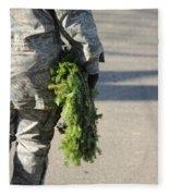 Military Christmas  Fleece Blanket