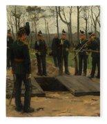 Military Funeral Fleece Blanket