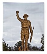 Military Soldier Memorial Fleece Blanket
