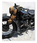 Military Style Bmw Motorcycle Fleece Blanket