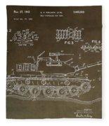 Military Tank Patent Fleece Blanket
