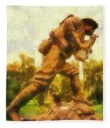 Military Ww I Doughboy 01 Photo Art Fleece Blanket