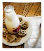 Milk And Cookies Fleece Blanket