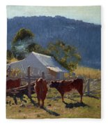 Milking Time. Araluen Valley Fleece Blanket