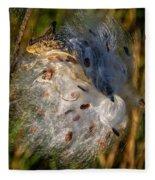 Milkweed 3 Fleece Blanket