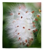 Milkweed Explosion Fleece Blanket