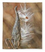 Milkweed Pod And Seeds Fleece Blanket