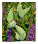 Milkweed Pods Fleece Blanket