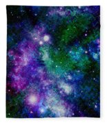Milky Way Abstract Fleece Blanket