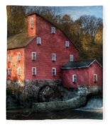Mill - Clinton Nj - The Old Mill Fleece Blanket