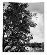 Mill Creek Marsh Afternoon Sun Fleece Blanket