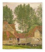 Mill On The Thames At Mapledurham, 1860 Fleece Blanket