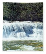 Mill Shoals Waterfall During Flood Stage Fleece Blanket
