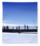 Millenium Bridge London Fleece Blanket