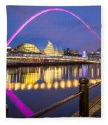 Millennium Bridge - Gateshead Fleece Blanket