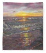 Miller Ocean Sunset Fleece Blanket