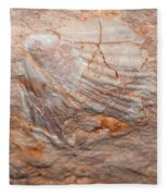 million years ago 2 - An enormeous shell fossile in top of cova des coloms in Es Migjorn - Menorca Fleece Blanket