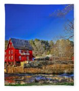 Historic Millmore Mill Shoulder Bone Creek Fleece Blanket